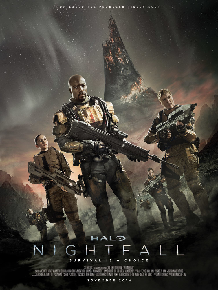 "Poster for the movie ""Halo: Nightfall"""