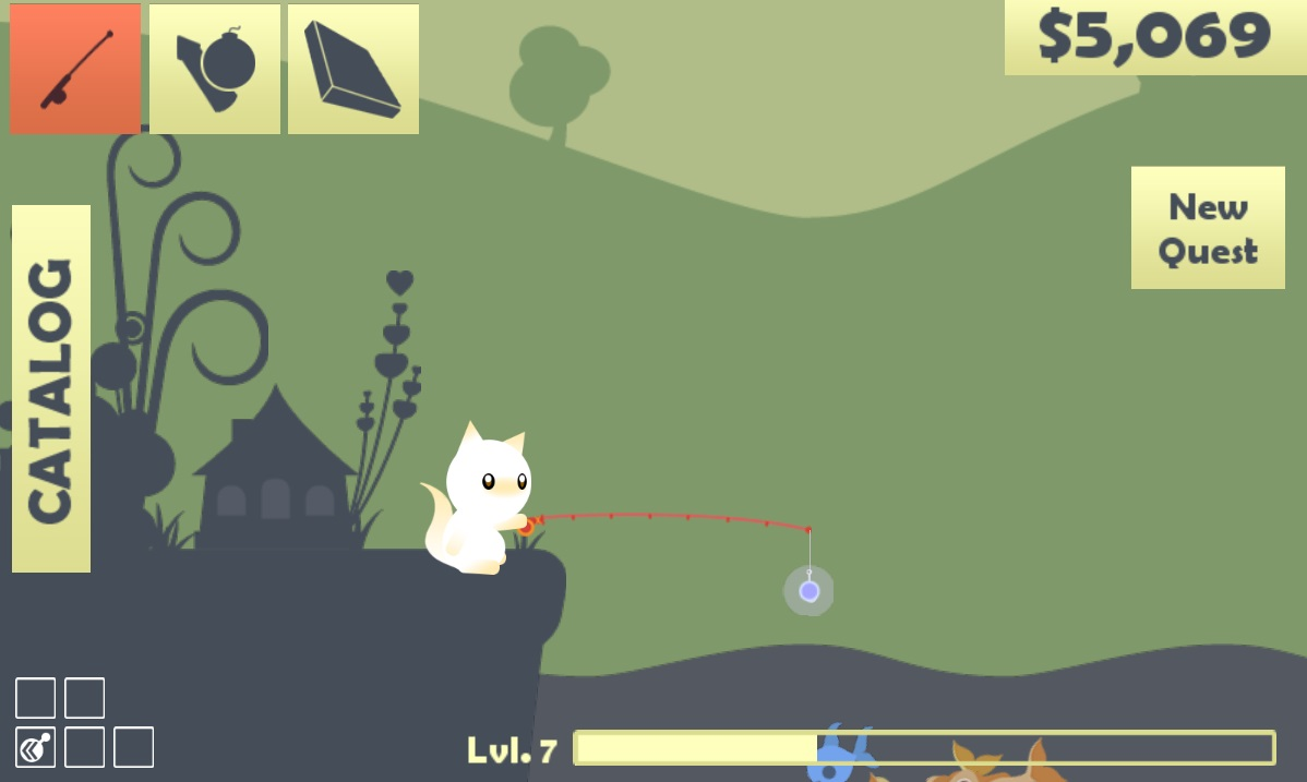 Cat goes fishing review for Easy fishing games