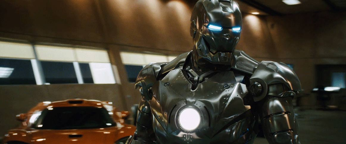 How many suits of armor appear in Iron Man?