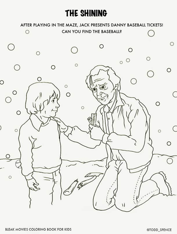 Coloring Book 4 : Art of movies bleak colouring book