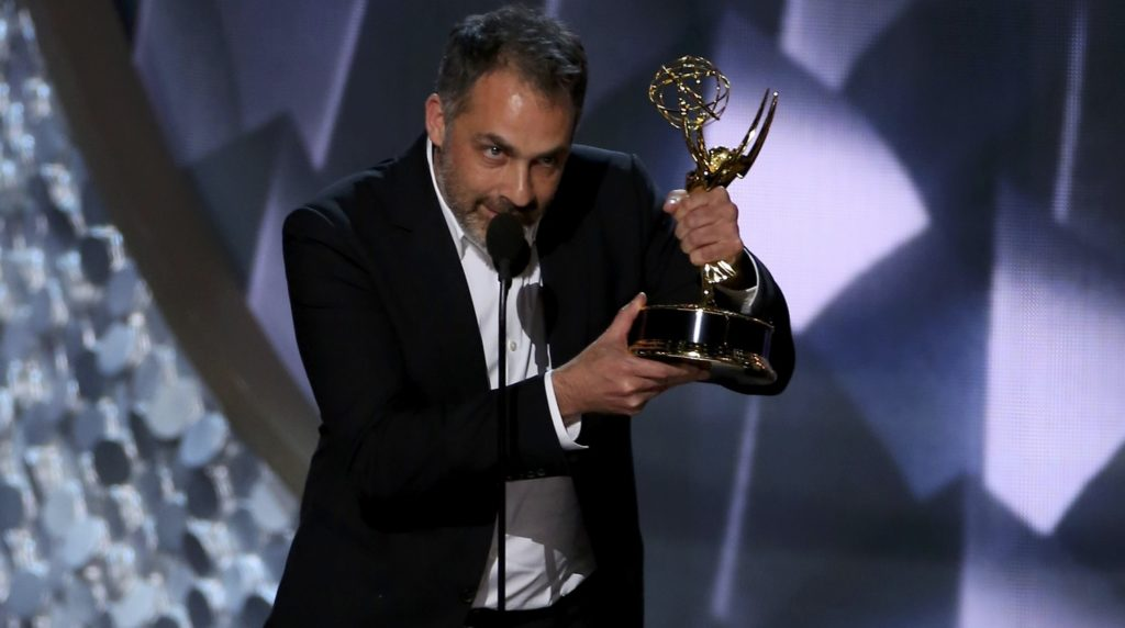 Miguel Sapochnik accepts the award for Outstanding Directing For A Drama Series at the 68th Primetime Emmy Awards in Los Angeles
