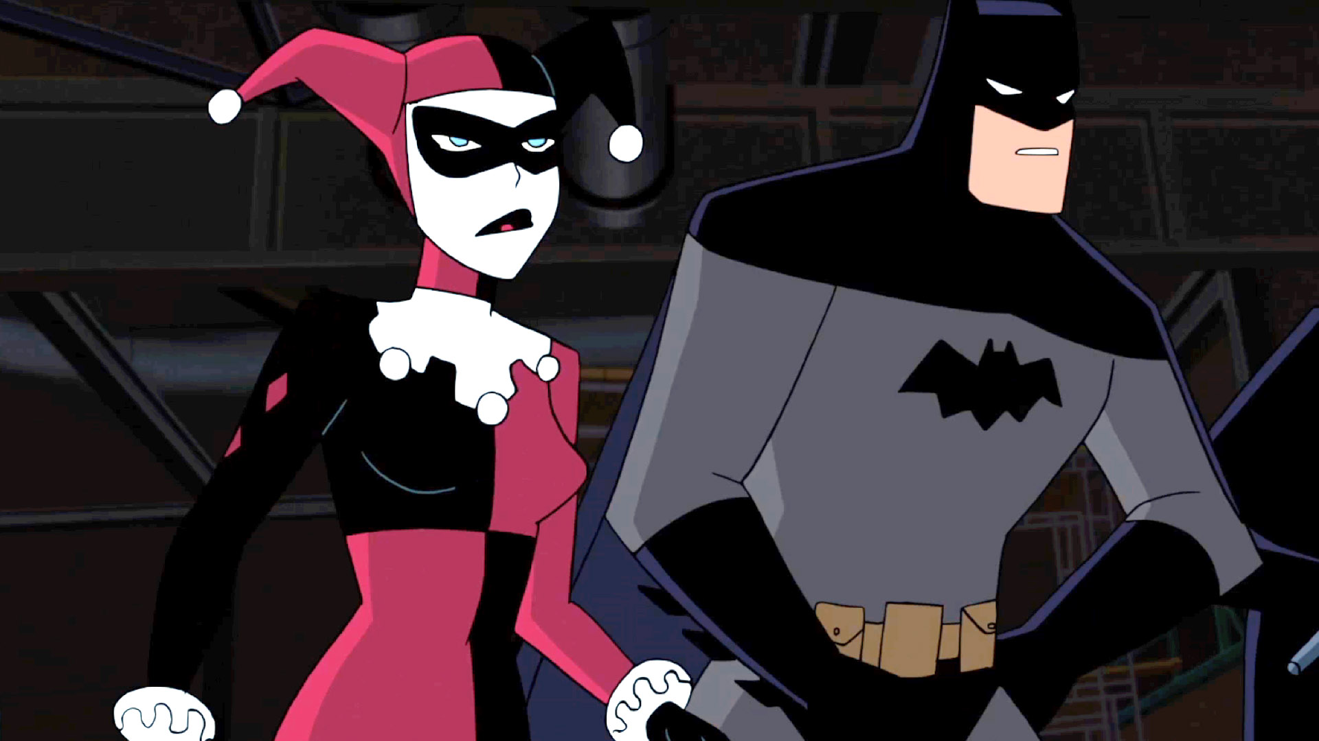 batman and harley animation