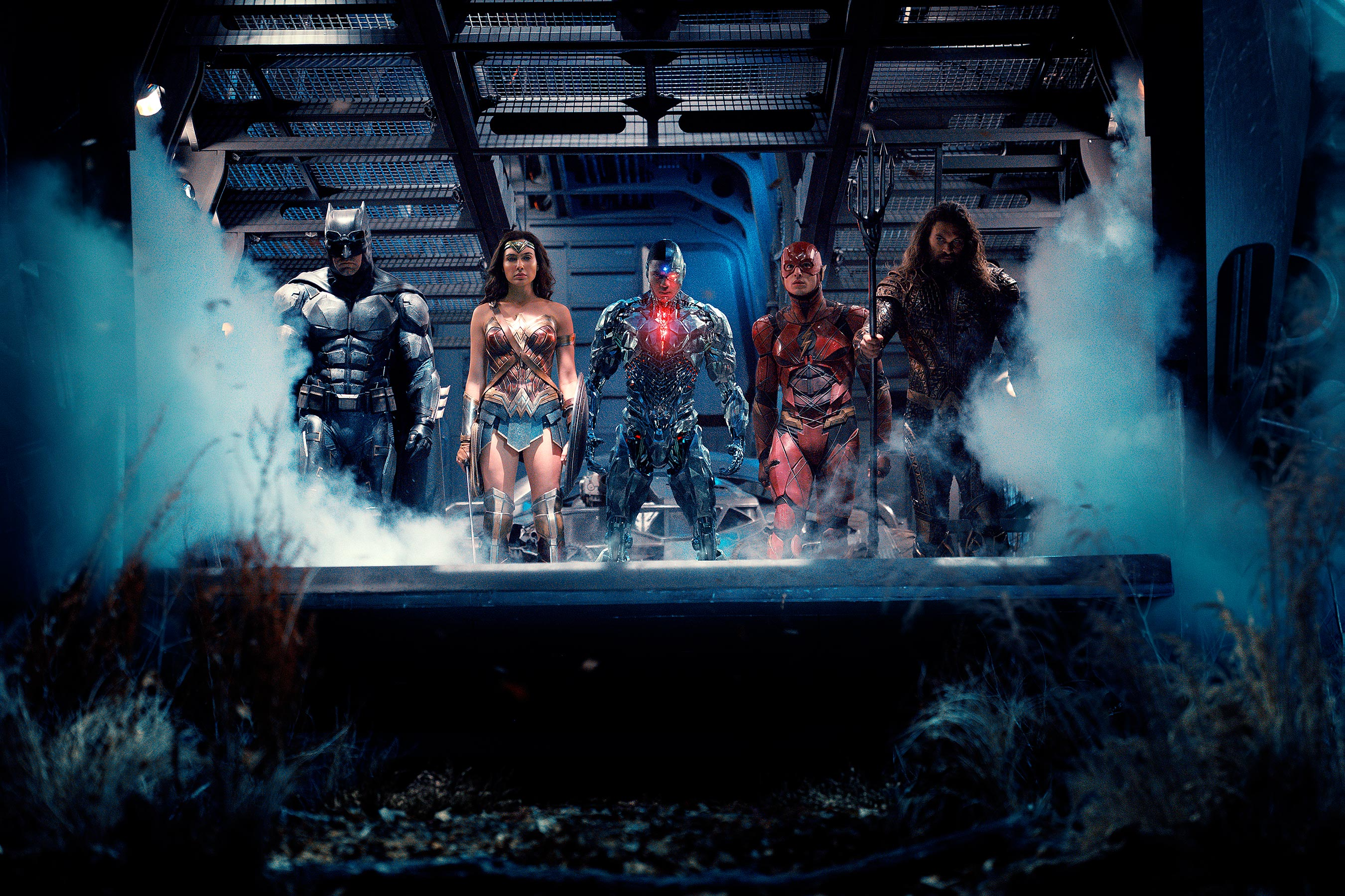Justice League Ben Affleck Gal Gadot Ray Fisher Ezra Miller Jason Mamoa