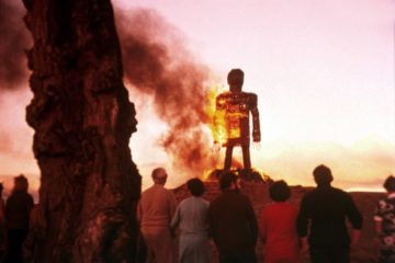 The Wicker Man Burning Effigy